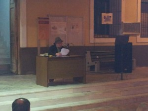 Clausura de las veladas culturalesde la villa de Ricote con poesía y queimada