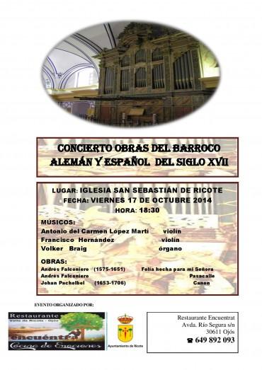 CONCIERTO DE OBRAS DEL BARROCO ALEMÁN Y ESPAÑOL DEL SIGLO XVII