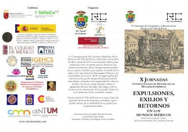 X JORNADAS INTERNACIONALES DE HISTORIA DE LAS MONARQUIAS IBÉRICAS/CLAUSURA INSTITUCIONAL DEL 400 ANIVERSARIO DE LA EXPULSIÓN Y RETORNO DE LOS MORICOS DEL VALLE DE RICOTE