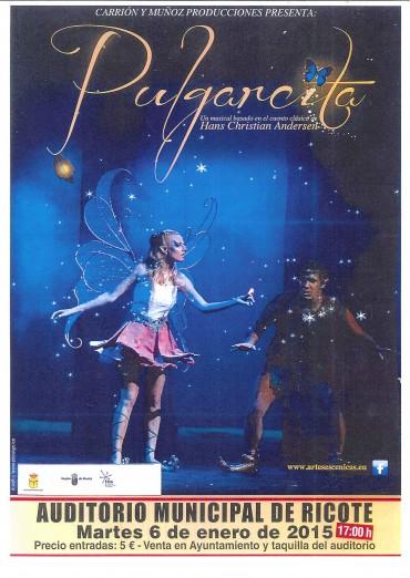 PULGARCITA, UN MUSICAL BASADO EN EL CUENTO CLÁSICO DE HANS CHRISTIAN ANDERSEN