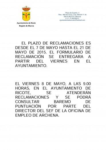 PUBLICADAS LISTAS PROVISIONALES CONSEJOS COMARCALES DE EMPLEO