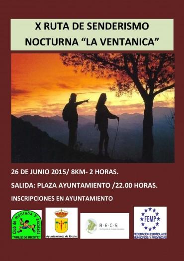 """X RUTA DE SENDERISMO NOCTURNA """"LA VENTANICA"""""""