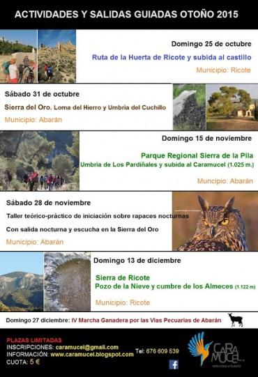 ACTIVIDADES Y SALIDAS GUIADAS OTOÑO 2015