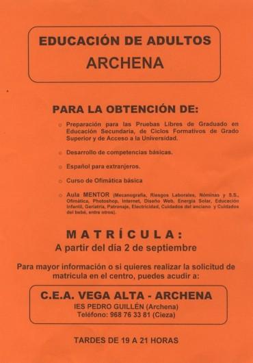 EDUCACIÓN ADULTOS ARCHENA