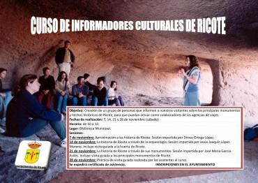CURSOS DE INFORMADORES CULTURALES DE RICOTE