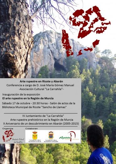 Conferencia sobre las pinturas rupestres de Ricote y Abarán.