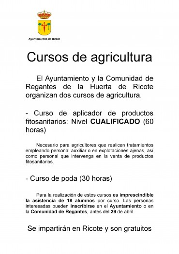 CURSOS DE AGRICULTURA