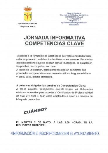 JORNADA INFORMATIVA COMPETENCIAS CLAVE