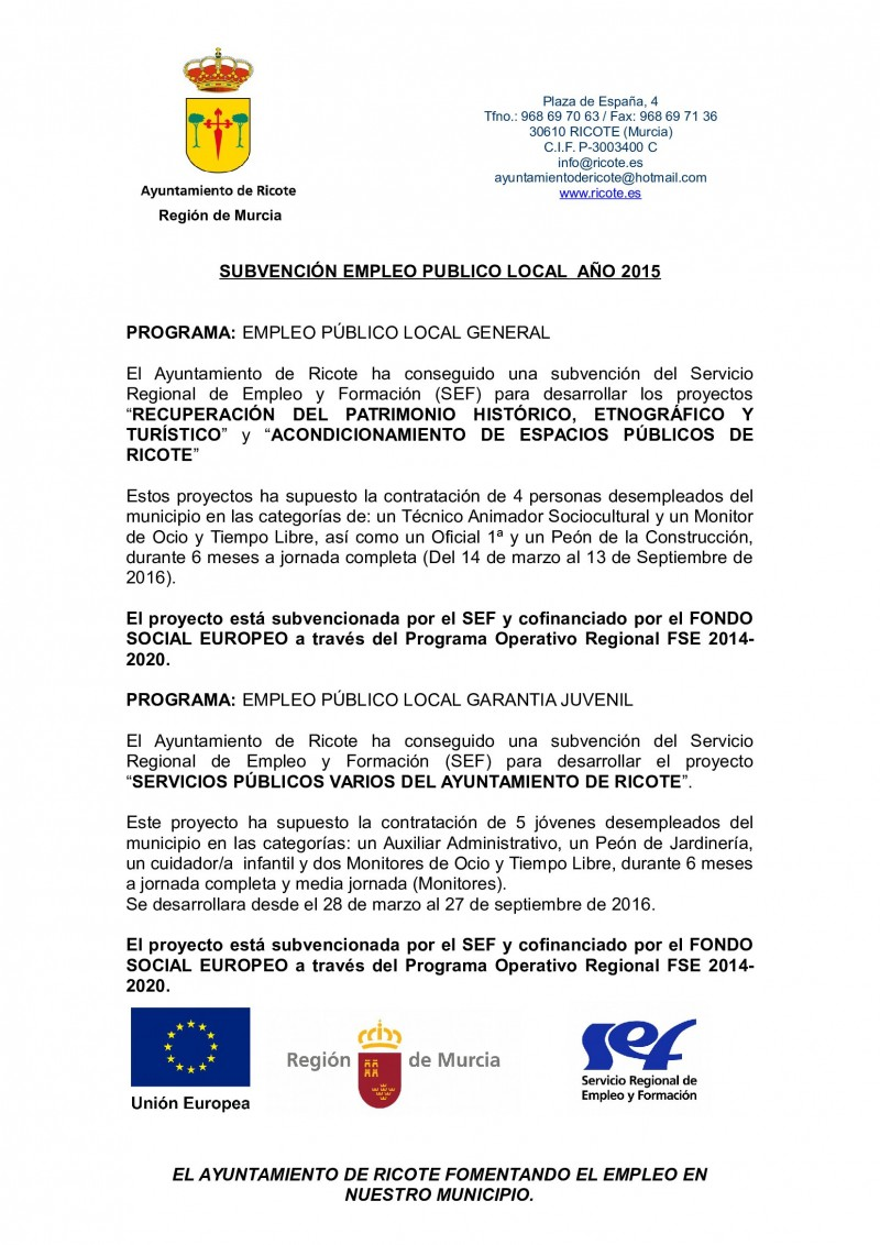 Fomento de Empleo Local