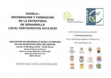 CHARLA: INFORMACIÓN Y FORMACIÓN DE LA ESTRATEGIA DE DESARROLLO LOCAL PARTICIPATIVO 2014-2020.LEADER