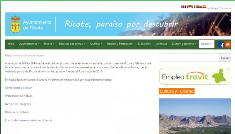 Nueva sección en la web municipal