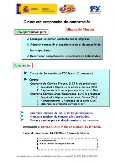 CURSOS CON COMPROMISO DE CONTRATACIÓN