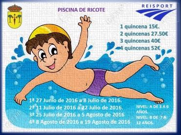 INAUGURACIÓN PISCINA MUNICIPAL VIERNES 24 DE JUNIO 12.00 HORAS. ENTRADA GRATUITA