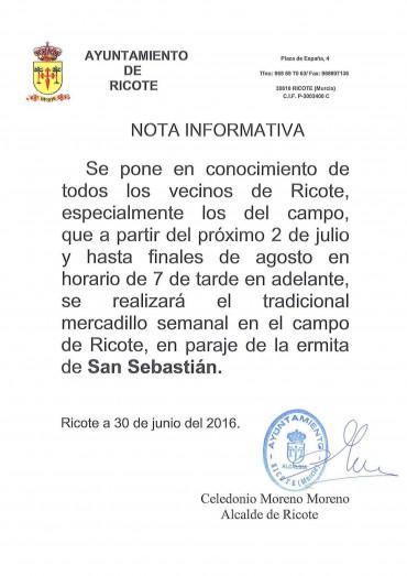 MERCADO SEMANAL TRADICIONAL EN EL CAMPO DE RICOTE.