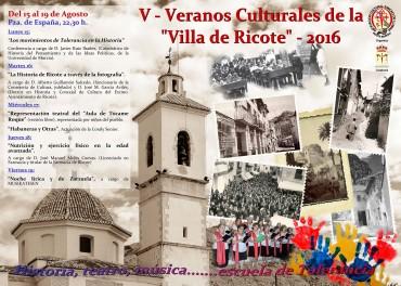 Veranos culturales de la villa de Ricote