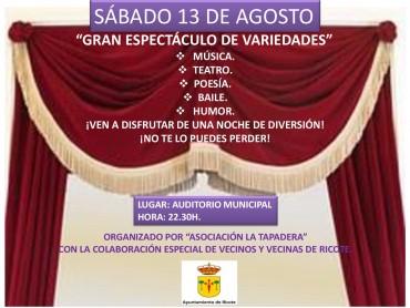 """""""ESPECTÁCULO DE VARIEDADES"""""""