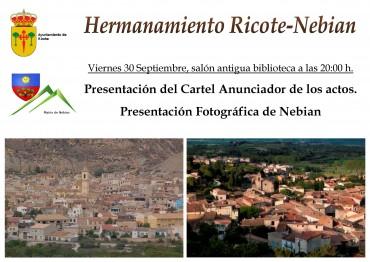 Actos de Hermanamiento con Nébian y conmemoración del IV centenario de la muerte de Cervantes