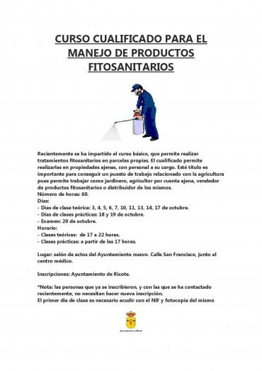 CURSO CUALIFICADO DE FITOSANITARIOS