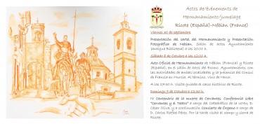 Hermanamiento con Nébian y homenaje a Miguel de Cervantes