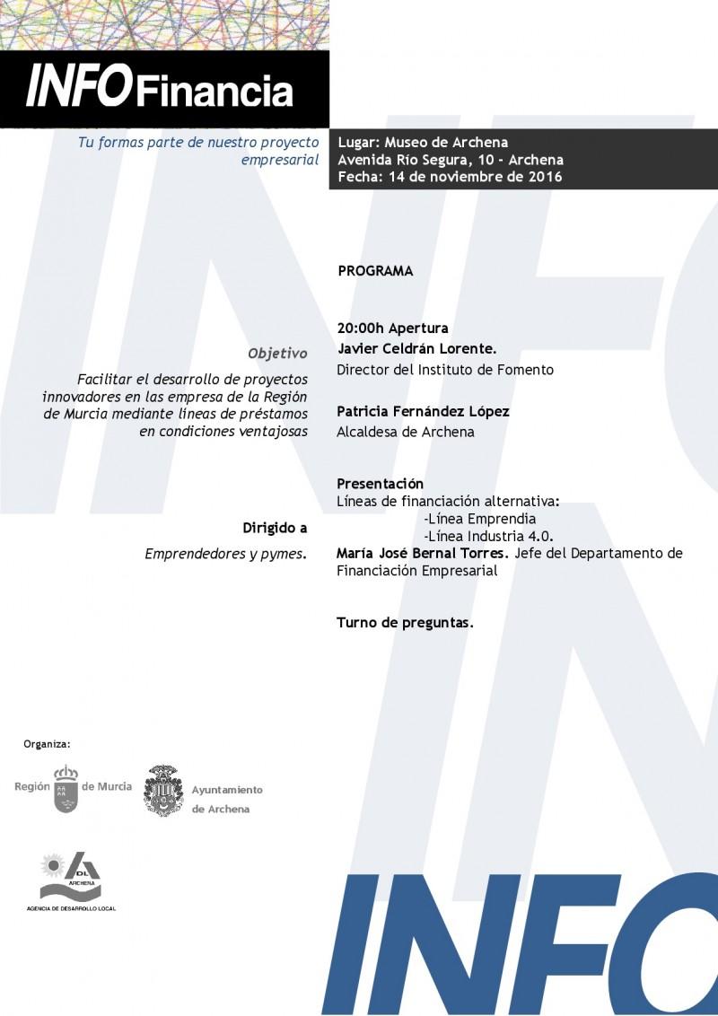 JORNADA NUEVAS LINEAS DE FINANCIACIÓN INFO VALLE DE RICOTE