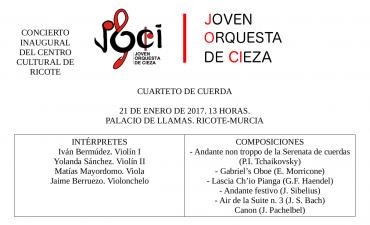 Concierto de inauguración del Centro Cultural de Ricote