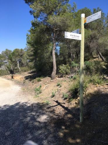 Nueva señalización de las rutas de senderimo
