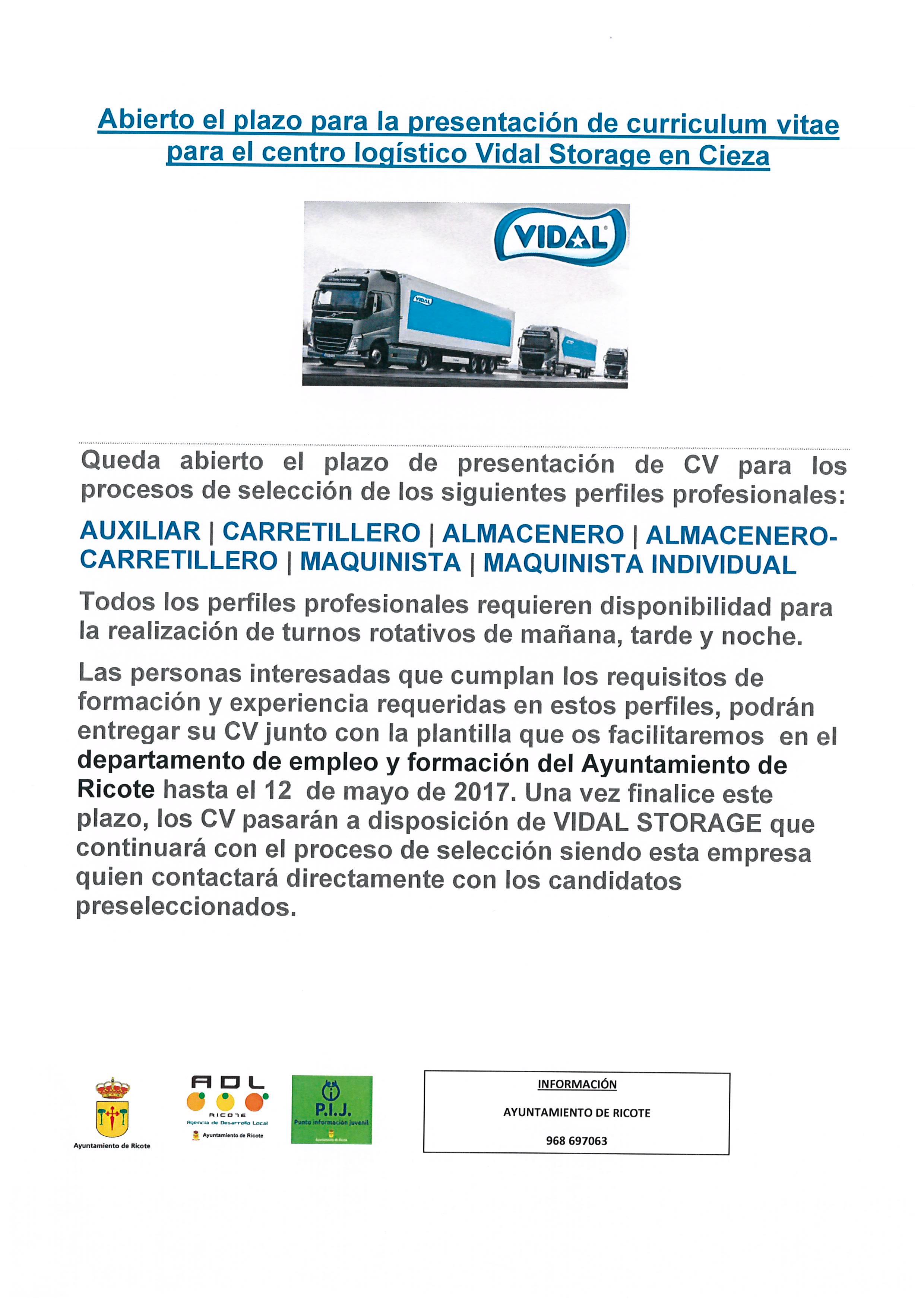 Abierto Plazo De Presentacion C V Para Centro Logistico Vidal