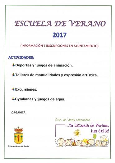 ESCUELA DE VERANO RICOTE 2017