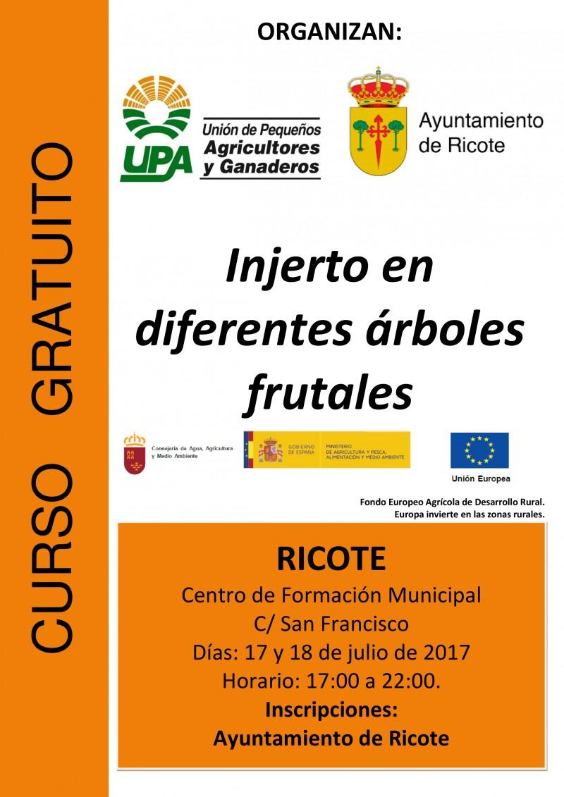 Cartel-Curso-INJERTO-RICOTE-julio-2017