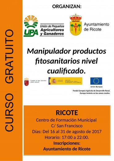 Curso cualificado de manipulador de productos fitosanitarios