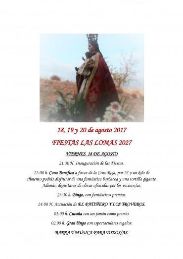 PROGRAMA FIESTAS LAS LOMAS DE RICOTE 2017