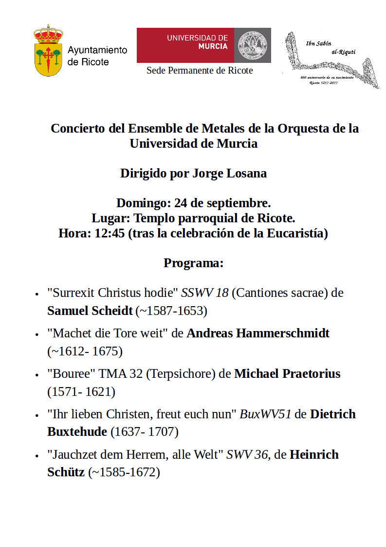 Programa concierto 24 de septiembre