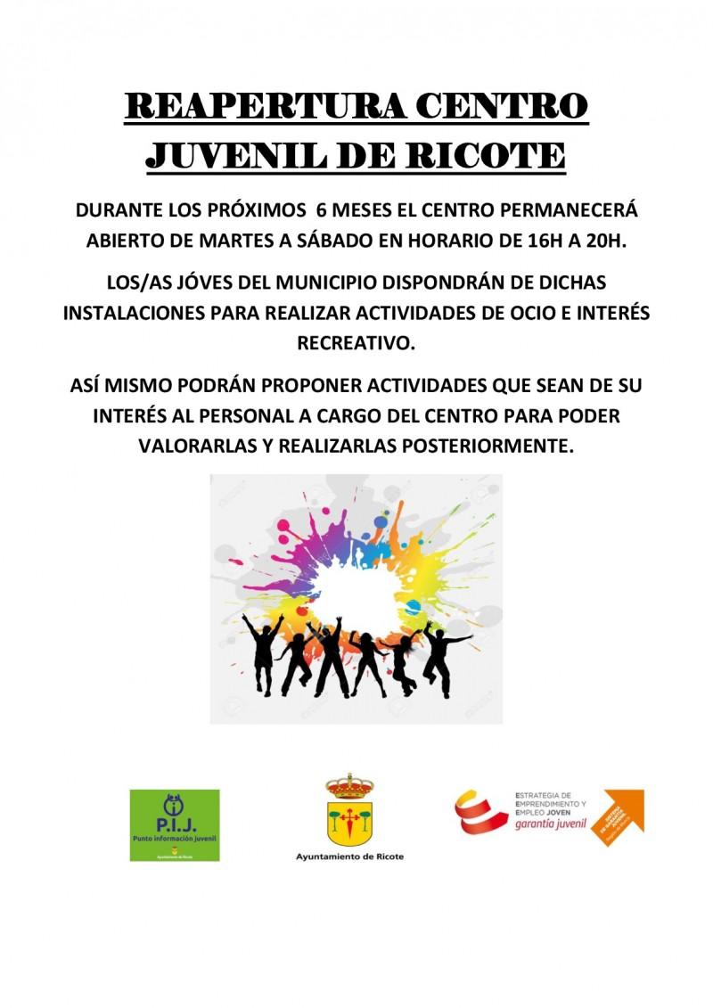 REAPERTURA CENTRO                          JUVENIL DE RICOTE-001