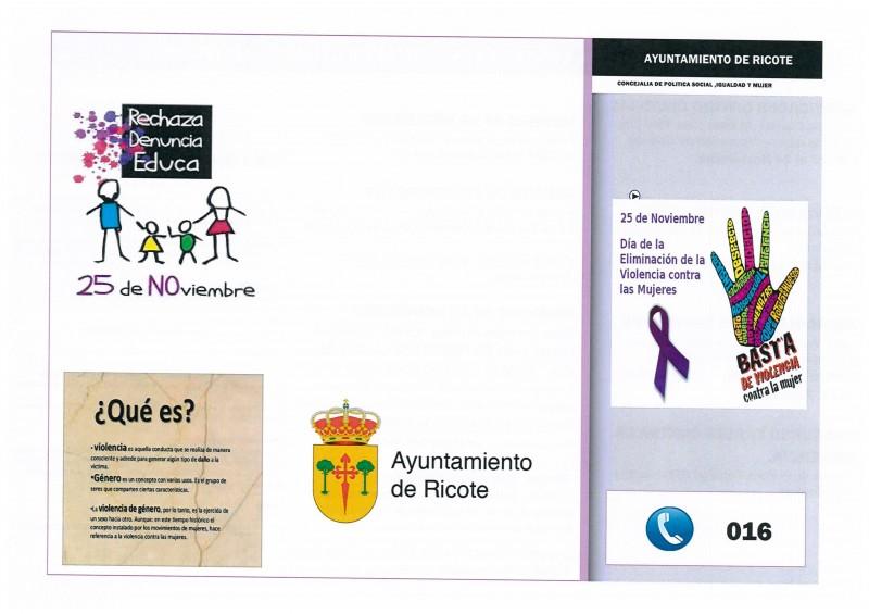 25 Noviembre Día Internacional contra la Violencia de Género. Actividades