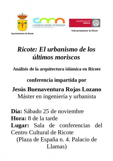 Conferencia sobre el urbanismo medieval de Ricote