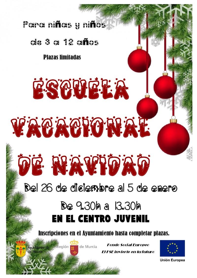 ESCUELAS VACACIONALES DE NAVIDAD