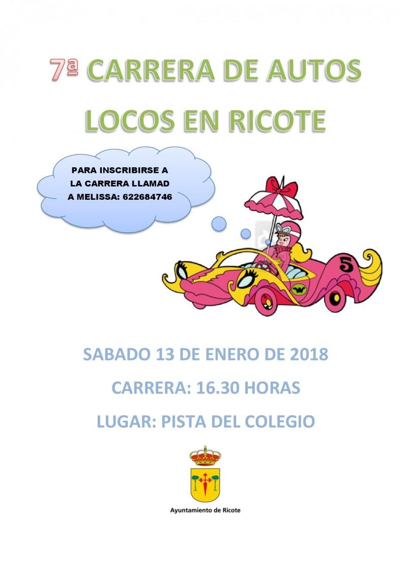 VII Carrera Autos Locos enFiestas Ricote 2018