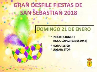 DESFILE  FIESTAS DE SAN SEBASTIAN 2018