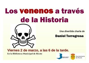 """Charla """"Los venenos a través de la Historia"""""""