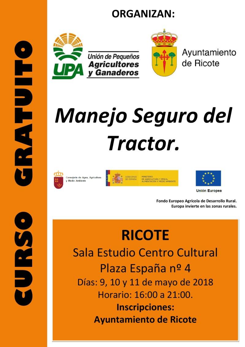 Cartel Curso Manejo Seguro Tractor Ricote 2018-001