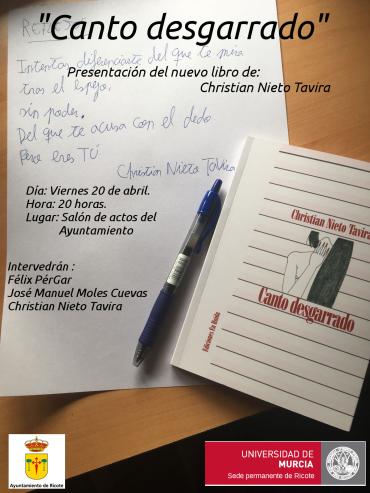 """""""Canto desgarrado"""". Presentación del libro de poemas de Christian Nieto Taviera"""