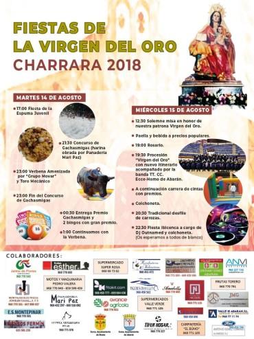 FIESTAS VIRGEN DEL ORO. CHARRARA 2018.