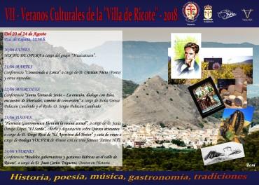 VII veranos culturales de la Villa de Ricote-2018