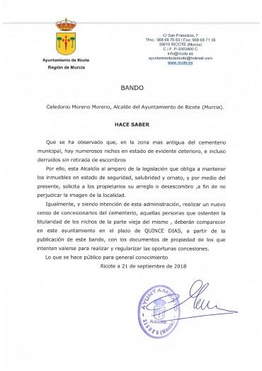 BANDO CEMENTERIO MUNICIPAL