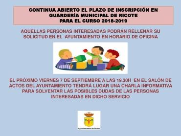 INICIO DE CURSO 2018-2019 EN GUARDERÍA MUNICIPAL