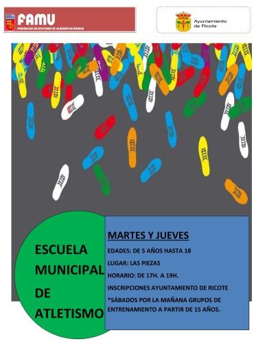 INICIO ESCUELA MUNICIPAL DE ATLETISMO CURSO 2018-2019