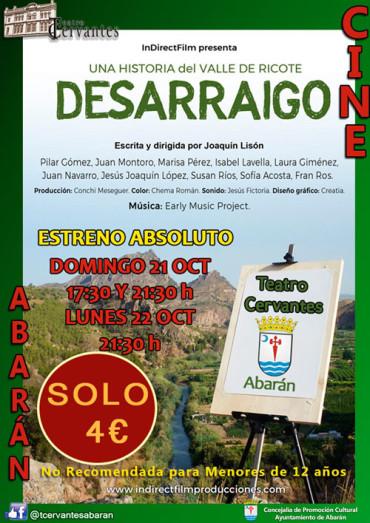 """Estreno de la película """"DESARRAIGO"""" una historia del Valle de Ricote."""