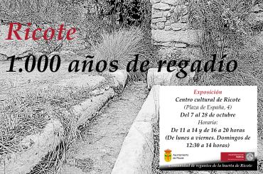 Ricote, 1000 años de regadío – Exposición -