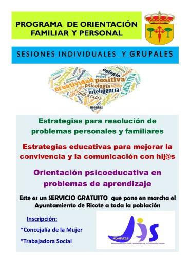 PROGRAMA DE ORIENTACIÓN FAMILIAR Y PERSONAL