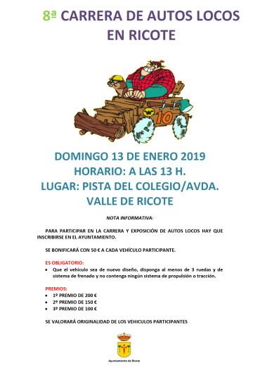 8ª CARRERA DE AUTOS LOCOS EN RICOTE
